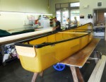 Canoe Before Cover - Rear View